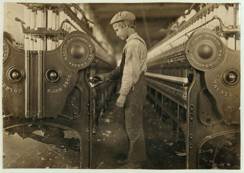 License     Attribution Some rights reserved by Children's Bureau Centennial  LC-DIG-nclc-01379 Child Labor Industrial           1             Newer Older Title: Doffer in a Lincolnton, (N.C.) mill. Location: Lincolnton, North Carolina. Creator(s): Hine, Lewis Wickes, 1874-1940, photographer